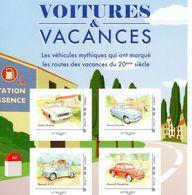 France 2019  -  Voitures & Vacances  - Simca Ariane-Aronde-Renault 4CV-Dauphine  -  4v S/a Feuillet Neuf/Mint/MNH - Automobili