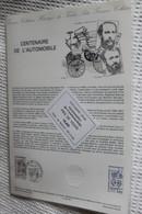 Frankreich; ETB, 1984; Ersttagsblatt: 100 Jahre Automobil; ETB: 35-84 - Automobili