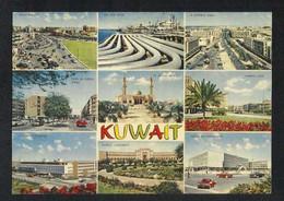 Kuwait 9 Scene Mosque Hospital University Oil Pipe Lines Parliament Street Picture Postcard - Kuwait
