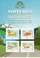 France 2019  -  Voitures & Vacances  -  Fiat 500-Volkswagen T1-Panhard PL17-Renault 16 - 4v S/a Feuillet Neuf/Mint/MNH - Automobili