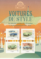 France 2019  -  Voitures De Style  -  Lancia-Citroen DS-Jaguar-Facel Vega  - 4v S/a Feuillet Neuf/Mint/MNH - Automobili