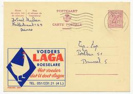 """BELGIQUE => Carte Postale - 2F - Publicité """"Voeders LAGA Roselaere""""  - Publibel 2085 - Publibels"""