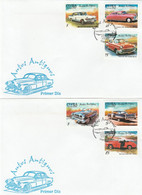 CUBA 2002 Antique Cars 2 FDC - Automobili