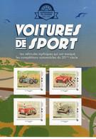 France 2019  -  Voitures De Sport  -  Bugatti T35-Ferrari 500-Mini Cooper-Peugeot 504  - 4v S/a Feuillet Neuf/Mint/MNH - Automobili