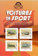 France 2019  -  Voitures De Sport  -  Chenard Walcker-Ford GT40-Jaguar-Matra Simca  - 4v S/a Feuillet Neuf/Mint/MNH - Automobili
