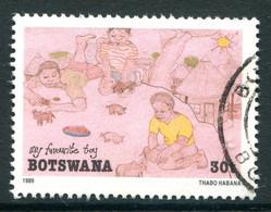 Botswana 1989 Children's Paintings - 30t Value Used (SG 680) - Botswana (1966-...)