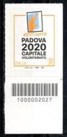 Italia 2020 - Padova Capitale Europea Del Volontariato 2020 Codice A Barre MNH ** - Codici A Barre