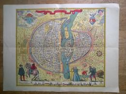 Carte Couleur PARIS En 1576. - Mapas Geográficas