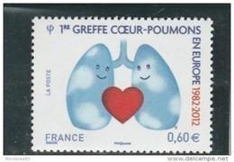 FRANCE 2012 GREFFE COEUR POUMONS NEUF YT 4674 - - Unused Stamps