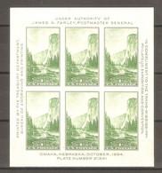 1934. USA. Philatelic Exhibition Trans-Mississippi . Block  * - Unused Stamps