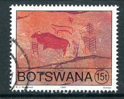 Botswana 1991 Rock Paintings - 15t Value Used (SG 710) - Botswana (1966-...)