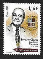 Andorre 2020 - Jacques Chirac ** - French Andorra