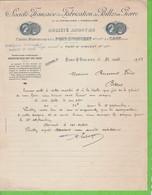 SOCIETE FRANCAISE DE FABRICATION  BILLES EN PIERRE TONNELLERIE D'EMBALLAGE USINES HYDRAULIQUES PONT-St VINCENT SAOU M.M. - Frankreich