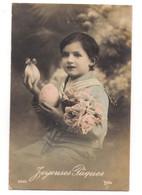 Fantaisie: Joyeuses Pâques, Enfant Avec Des Oeufs.. - Postales