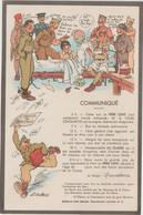 Humour : Militaire  Soldat , Communiqué !, Illustrateur A. Gaillard - Humor
