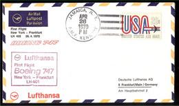 USA - Yv PA 71. S/lettre Lufthansa,par Avion,1er Vol Boeing-747 New-York -Frankfurt 26-4-1970 - 3c. 1961-... Storia Postale