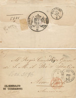 ATL034 TRANSATLANTICA TERRANOVA DI SICILIA X NEW YORK Depreciated Currency RARA - Poststempel