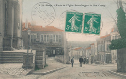 55) STENAY : Parvis De L'église Et Rue Chanzy (1911) Rare !!! - Stenay