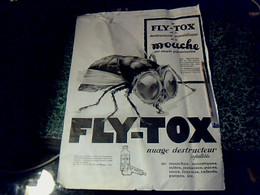 2  Publicités De Presse (à Encadrer) De 1928 Sur Page Recto/verso 30 X  39 Cm  Le Fly-tox &  Parfum N°9 De Cadolle - Pubblicitari