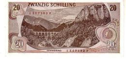 Austria P.142 20 Shillings 1967 Xf - Austria