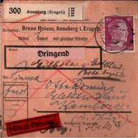 ! 1942 Annaberg Im Erzgebirge Nach Kemberg, Paketkarte, Deutsches Reich - Covers & Documents