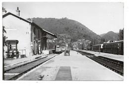 """""""Station De Laval-de-Cère . - Passage De L'Autorail Aurillac-Bordeaux """" - Photographie Vilain . - Tampon La Vie Du Rail. - Other Municipalities"""