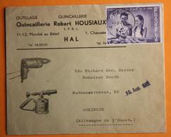 LETTRE PUBLICITAIRE D'UNE QUINCALLERIE DE HALLE,AVEC NO 1145 SEUL SUR LETTRE,POUR SOLINGEN. - Belgium