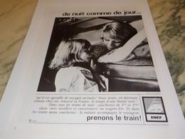 ANCIENNE PUBLICITE DE NUIT COMME DE JOUR SNCF 1978 - Railway