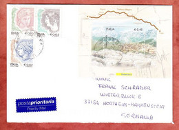Luftpost, Block Transumanza U.a., Padova Nach Northeim 2005? (97860) - 2001-10: Oblitérés