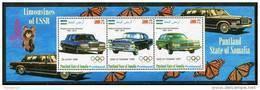 VINTAGE CARS On SOUVENIR SHEET 3 STAMPS,MNH,MINT,BA#331 - Automobili