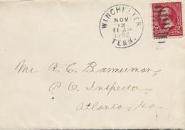 3558  Carta Winchester 1902,Tenn, Parrilla Muda - Vereinigte Staaten