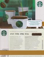 GREECE - Starbucks Card, CN : 6141(yellow Reverse), Unused - Gift Cards