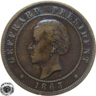 LaZooRo: Haiti 20 Centimes 1863 VF / XF - Haïti