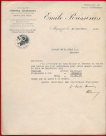 """Courrier Commercial Illustré 1934 Emile POUSSINES 81 Mazamet Tarn, Spécialité D""""ENGRAIS ORGANIQUES Pour Vigne Et Culture - Agricultura"""