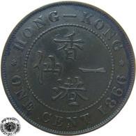 LaZooRo: Hong Kong 1 Cent 1866 VF / XF - Hongkong