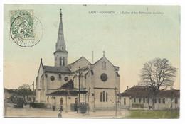 33-BORDEAUX-SAINT-AUGUSTIN-L'Eglise Et Les Bâtiments Scolaires...1907  (coin Pli) - Bordeaux