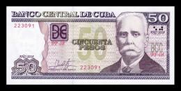 Cuba 50 Pesos Calixto García Iñiguez 2018 Pick 123 New SC UNC - Cuba