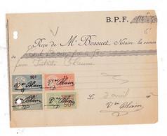 2 Documents Timbrés 1919-1922 Me BOSSUET, Notaire, Bordeaux - Frankreich