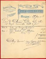 1906 FACTURE Illustrée ELIE DOUGAROS Laines & Peaux 81 MAZAMET Tarn - 1900 – 1949