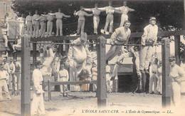 Thème Sport  .    Gymnastique. La Poutre Et La Barre    Ecole A Saint Cyr   78      (Voir Scan) - Gymnastics