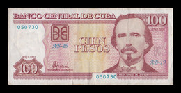 Cuba 100 Pesos Carlos Manuel De Céspedes 2001 Pick 124 MBC- AVF - Cuba