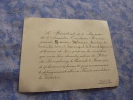 CARTON D'INVITATION RECEPTION PALAIS LUXEMBOURG 6 JUIN 1945 COMMEMORATION DEBARQUEMENT ET LA VICTOIRE GUERRE 39-45 - Documenti Storici