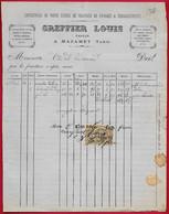 1887 FACTURE De GREFFIER Louis PAVEUR à 81 MAZAMET Tarn ** Métier - Ambachten