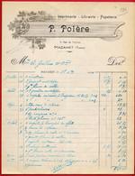 1930 FACTURE Illustrée Imprimerie Librairie Papeterie P. POLERE Rue De Verdun, 81 MAZAMET Tarn - Drukkerij & Papieren