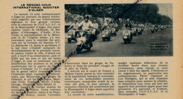 1955 : Document, Le Rendez-vous International Scooter D'Alger, Scootéristes Défilant à Travers Alger (texte Plus Photo) - Old Paper