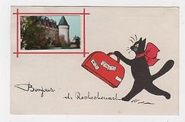 87 - ROCHECHOUART - FANTAISIE  CHATS - ILLUSTRATEUR : RENÉ -  BONJOUR - Rochechouart