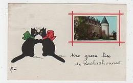 87 - ROCHECHOUART - FANTAISIE  CHATS - ILLUSTRATEUR : RENÉ -  UNE GROSSE BISE - Rochechouart