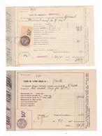 2 Documents Timbrés 1921 Lycée De Grenoble - Frankreich