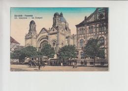 Synagogue Ujvidek (Novi Sad) Unused Postcard 1910(st915) Judaica Jewish + Tram Strassenbahn - Serbie