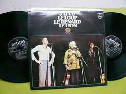 """Charlebois, Leclerc, Vigneault - X2 33t Vinyles """"J'ai Vu Le Loup, Le Renard, Le Lion"""" - Andere - Franstalig"""
